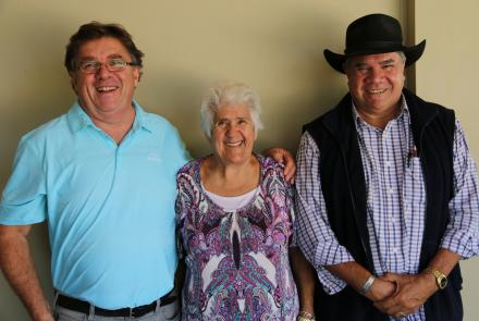 John Maynard, June Rose and Mick Dodson at the Newcastle Yarn Up.