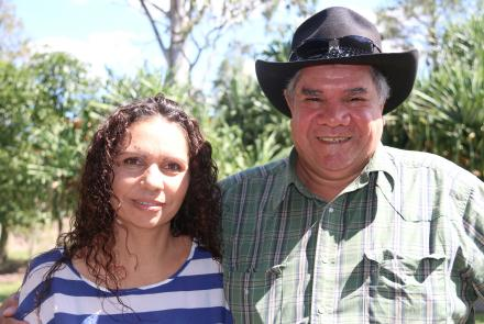 Narelle Urquhart and Mick Dodson