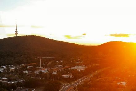 Black Mountain sunset