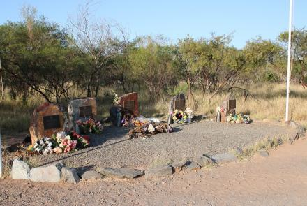 Whim Creek memorial to the Lockyer brothers, 122 km south west of Port Hedland (Image: Craig Greene)