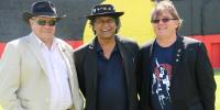 Mick Dodson, Ray Minniecon and John Maynard at the Sydney Yarn Up