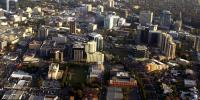 Aerial view of the Parramatta Central Business District in the western suburbs of Sydney. (AAP)